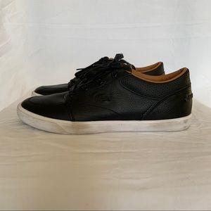 Lacoste Men's Bayliss Vulc Black Sneakers Shoe 6.5